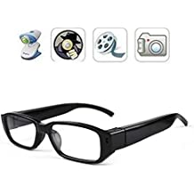 FiveSky 720P HD Espía Gafas Cámara , Gafas con Cámara Mini DV Videocámara Grabador de Vídeo Digital Cámara
