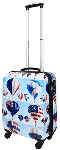 Motiv Luft (Koffer Sky Luft Balloon Hochglanz Größe M - 55 x 39 x 20 cm Bordgepäck Handgepäck Hartschale Reisekoffer Trolley Bowatex)