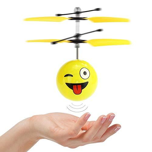 KITY 5-12 Jahre Mädchen Spielzeug, Fliegender Ball Handsensor Fliegender Ball Geschenke für Jungen ab 3-12 Spielzeug Fliegendes Spiele Geschenke für Jungs Mädchen Drohne LED-Licht(Stil-frech) -