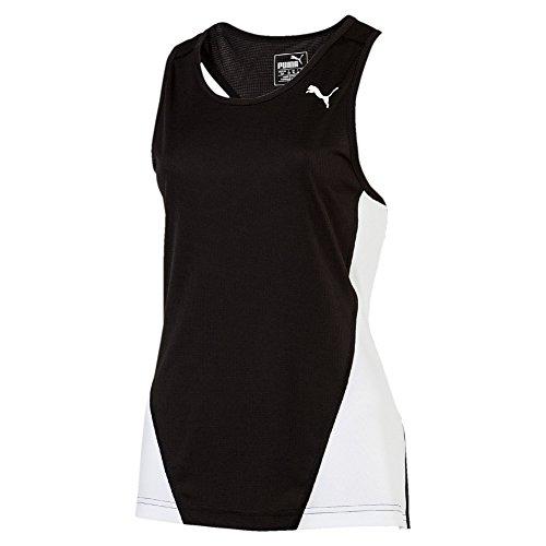 Puma Mädchen Cross The Line Singlet W Tank Top Black White, 164 Preisvergleich