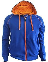Casual warm sweat zip-Hoodie jumper of orange color hoodie zip-up jacket.