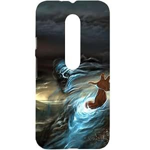 Casotec Ghost In Darkness Design Hard Back Case Cover for Motorola Moto G 3rd Gen