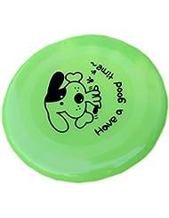 La vogue 2Pcs Discos Voladores Para Perros Gatos Juguetes Entrenamiento (Verde)