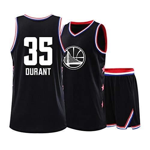 SUXT All-Star Herren-Basketballtrikot # 30 34 23 3 11 13 35 Curry James Wade HARDE Durant Kinder-Basketballtrikot, Wendetrainings-Trikot, Basketballtrikot für Herren und Jungen-35-S -