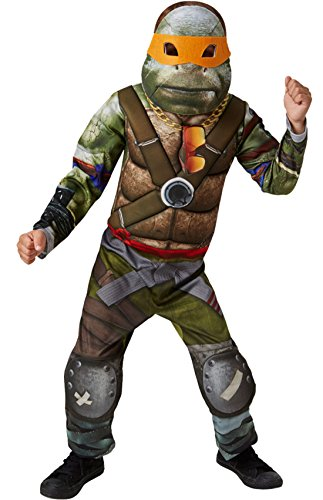 erdbeerloft - Jungen Karneval Kostüm Ninja Turtle , Grün, Größe 122-128, 7-8 Jahre