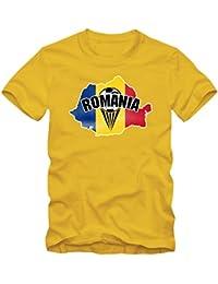 Shirt Happenz Rumänien WM 2018#1 T-Shirt | Fußball | Herren | Trikot | Tricolorii | Nationalmannschaft
