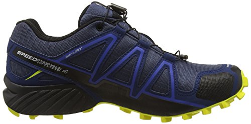 Salomon Speedcross 4, Chaussures de Trail Homme Bleu (Slateblue/Blue Depth/Corona Yellow)