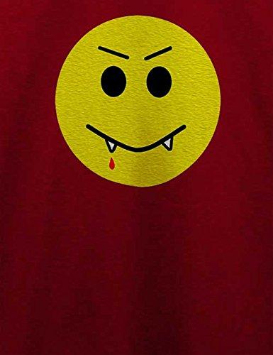 Vampir Smiley T-Shirt Bordeaux