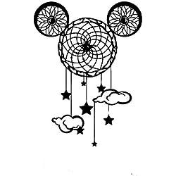 Sticker Mural Chambre d'enfant Décor À La Maison Dream Catcher Mickey Mouse Oreille Bébé Enfant Appliques Décor Star Star Z163 76 * 56Cm