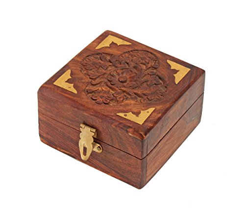 Small wooden boxes amazon