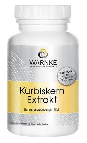Extracto de semillas de calabaza – 500mg con Vitamina E y Selenio – 250 cápsulas – 157g – productos para la salud Warnke