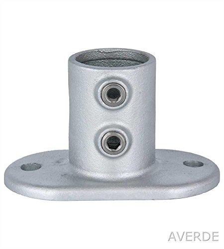 Tubo conector AVERDE 133-5 suelo - pared - Lámpara de techo de brida 3,18 cm (42,4 mm), hierro maleable, acero fundido, tubos de abrazadera de la infantil, azul, codo, barrera, montaje de tiendas, Stallbau