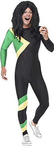 Adult men's Jamaican Bobsleigh Cool Runnings 1993 Movie Costume