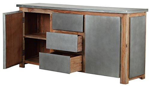 The Wood Times Sideboard Vintage Wohnzimmerschrank Massiv Odisha Sheeshamholz, FSC Zertifiziert, BxHxT 175x85x45 cm - 2