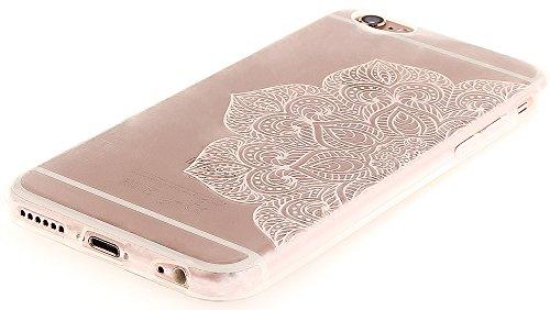 Nnopbeclik [Coque Iphone 6 Silicone / Coque Iphone 6S Apple ] Transparente élégant Style de Impression Couleur Motif Doux Backcover Case Housse pour Iphone 6 Coque Apple / Iphone 6S Coque Silicone (4. dentelle2