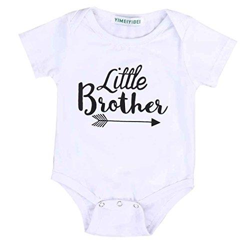 Brüder-kleidung (Arichtop Kleine Schwester Big Brother Familie passenden Outfits kleine Schwester Strampler Big Brother gedruckt Tops Baumwolle Outfits)