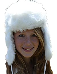 Style russe Ushanka blanc - chapeau de trappeur taille 57 cm