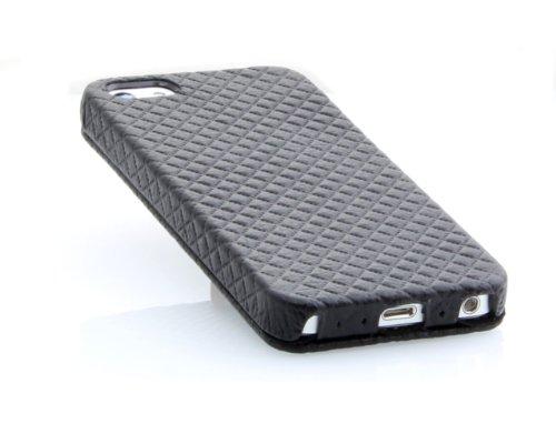 StilGut UltraSlim Case, Tasche aus Leder für Apple iPhone 5, 5s & iPhone SE, Schwarz - Nappa Black Prestige Edition II