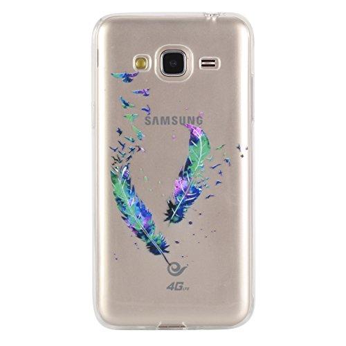 KANTAS 3X Coque Silicone Transparente pour Samsung Galaxy J3 2016/J310 TPU Doux Back Case Caoutchouc Gel Etui Clair Ultra Mince Coquille Ananas Drôle Crâne Fleurs Motif Fit Flexible Housse Silicone So 3