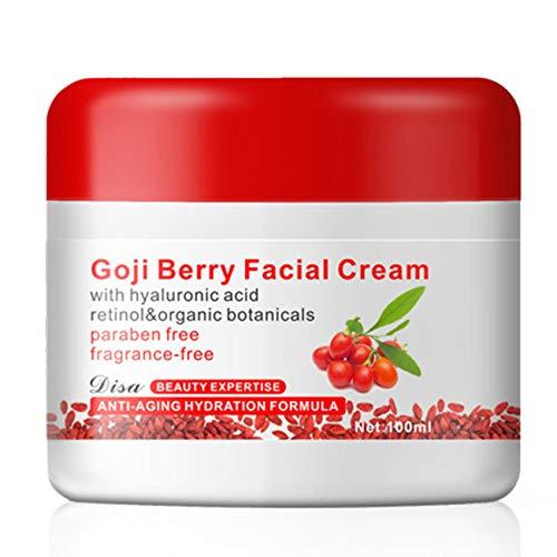 Crema facial de la baya de Goji con la crema antienvejecimiento del antioxidante del ácido hialurónico