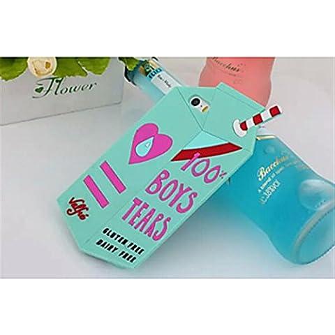 NightKid Cartones de leche lindo de silicona suave funda (iPhone 6S Plus iPhone 6S iPhone 6 Plus iPhone 6 iPhone 5C iPhone 5/5S )(iPhone