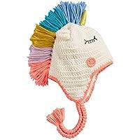 FERZA home Berretto da sci Berretto caldo a mano con motivo a forma di  unicorno per bambini Berretto a maglia per bambini Ragazzo e ragazza Cappello  per ... 5f4d19abc2dd