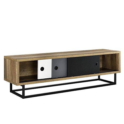 [en.casa]® mobile tv - con porte scorrevoli in diversi colori - 140cm x 35cm x 41cm