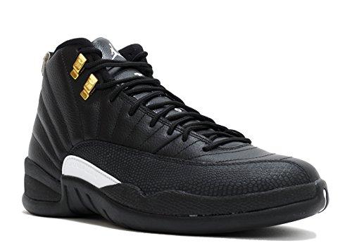 Nike Herren Air Jordan 12 Retro Sportschuhe-Basketball, Negro / Blanco / Dorado (Black / White-Black-Mtllc Gold-), 47 1/2 EU