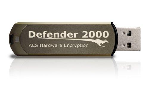 Kanguru Defender 2000 USB-Stick, verschlüsselt, Braun braun 128 GB