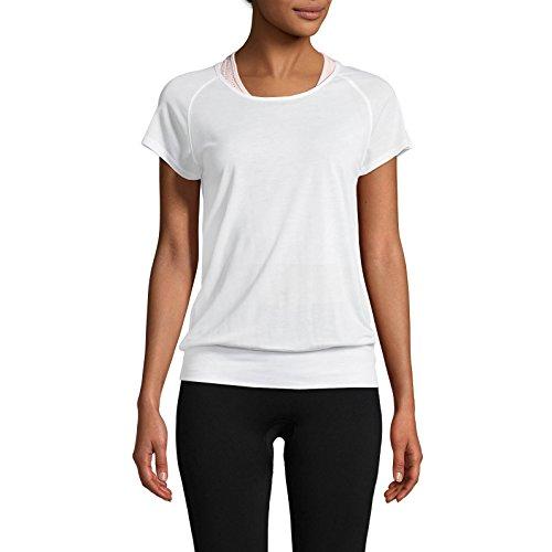 Casall Fluid Tee, bianco, 38 (Damen Tencel Großen T-shirt)