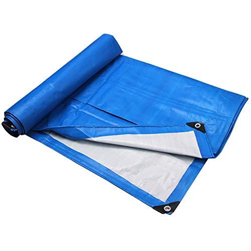 Yxsd Tissu antipluie Tissu en Plastique Tissu Imperméable Bâche Bande Épaississement Ombre Couleur Bandes Poncho Canvas Truck Canopy Tarpaulin (Taille : 4×8M)