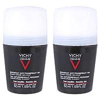 Vichy Homme Anti-Transpirant Deodorant 72H for Men Set of 2, 50 ml