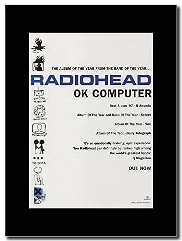 RADIOHEAD–OK Computer... Blanc. Magazine Promo sur un support