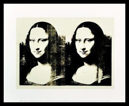 Andy Warhol Double Mona Lisa 1963 Poster Kunstdruck Bild im Alu Rahmen schwarz 34x42cm - Germanposters (1963-kunst-druck)