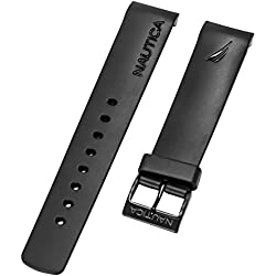 Nautica Men's A20059G | N20059G BFD 101 Dive Style Chrono 22mm Black Original Replacement Watchband
