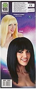 Carnival 02565 - Peluca de pelo liso y rubio con flequillo
