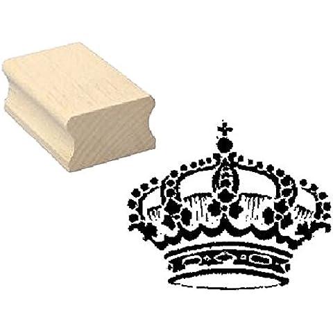 Timbro timbro in legno, motivo: « Corona