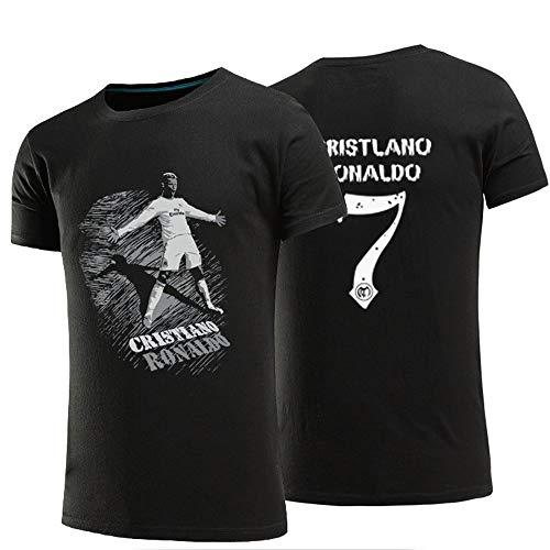 Sommer T-Shirt Fußball CR7 T-Shirt Kurzarm Baumwolle Sport T-Shirt
