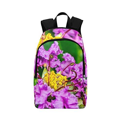 Blumen, Staubgefäße und Staubgefäße Casual Daypack Reisetasche College School Rucksack für Männer und Frauen
