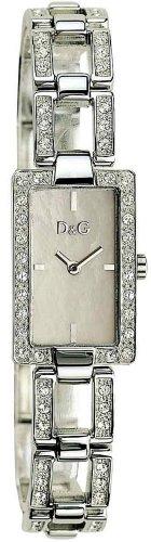 D&G Dolce&Gabbana Cannes - Reloj analógico de mujer de cuarzo con correa de acero inoxidable plateada - sumergible a 30 metros