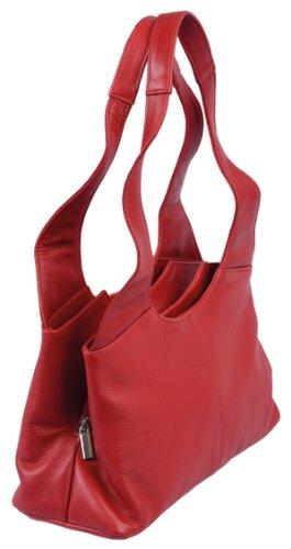 Borsellino da donna LEMONDO, Vera Pelle, 31x18x11,5cm Rosso