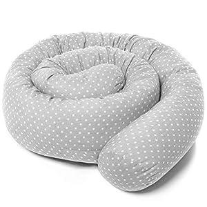 Fillikid Bettschlange Baby Nestchen 190 cm – Nestchenschlange für Beistellbett und Babybett/Bezug: 100% Baumwolle…