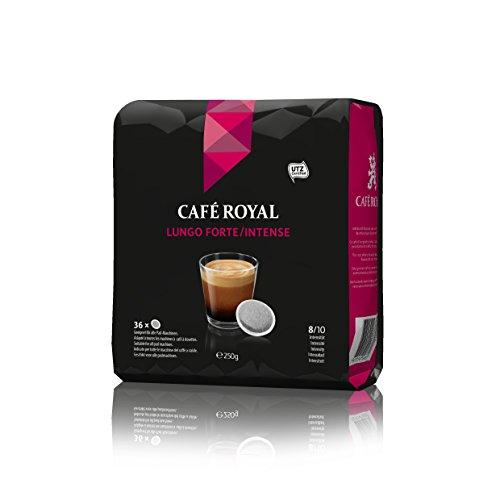 Café Royal Lungo Forte/Intense, 180 kompatible Pads für Senseo, 5er Pack (5 x 36 Pads)