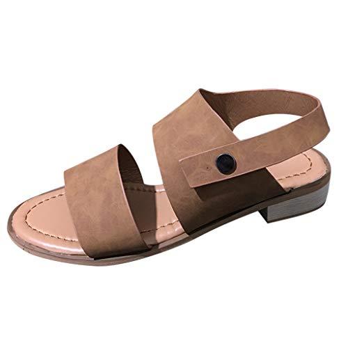 (Ears Damen High Heel Schuhe Lässige Römische Schuhe Freizeit Böhmische Schuhe Elegant Strand Sandalen Sommer Slippers Sneakers Knöchelgürtel Retro Open Toe Sandalen Sommer Casual Sandalen)