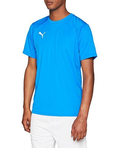 Blaue Trainings T-shirt (PUMA Herren Liga Training Jersey, Electric Blue Lemonade White, XL)