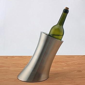 Chsukho Stainless Steel Ice Bucket Oblique Horn Ice Bucket Wine Ice Bucket Double-wall Champagne Ice Bucket 1