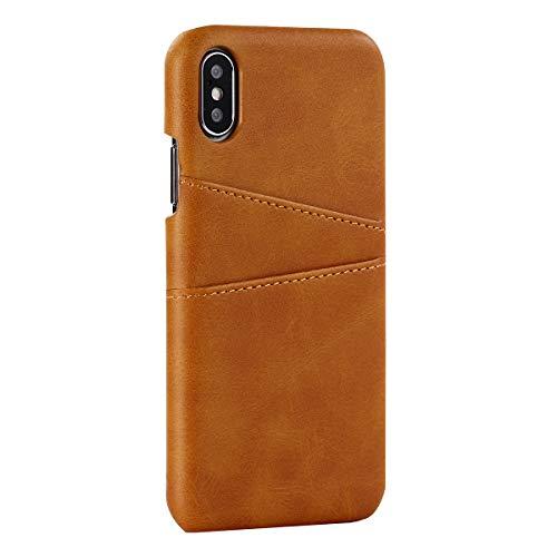 ompatibel mit iPhone X Schutzhülle aus schlankem PU Leder mit 2 Kartenfächern für iPhone X Mobile ()
