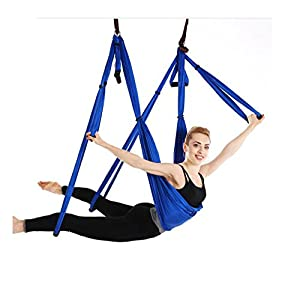 JFJL Aerial Yoga Swing, Ultra Starke Antigravity Yoga Hängematte/Trapez / Sling Für Antigravity Yoga Inversion Übungen, Zubehör Für Die Installation Sind Enthalten