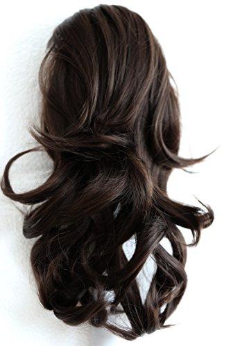 PRETTYSHOP Haarteil Hair Piece Zopf Pferdeschwanz Voluminös ca.35cm Hitzebeständig dunkelbraun #6 (Pferdeschwanz Zöpfe)