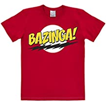 Logoshirt Camiseta Sheldon - ZAS EN Toda La Boca - Camiseta The Big Bang Theory - ¡ Bazinga ! - Camiseta con Cuello Redondo de Rojo - Diseño Original con Licencia